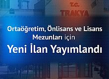 Trakya Üniversitesi'ne Ortaöğretim, Önlisans ve Lisans Düzeyinden Sağlık Personeli Alımı Yapılacak