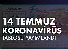 14 Temmuz Koronavirüs Tablosu Yayımlandı
