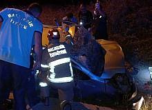 Bandırma'da iki araç çarpıştı : 5 yaralı
