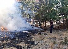 Bingöl'de korkutan yangın evlere sıçramadan söndürüldü