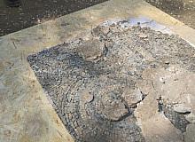 Bir evin zemininde bulunan mozaikler için kurtarma çalışmaları tamamlandı