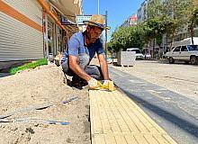 Bismil Belediyesinin yol ve kaldırım çalışması hız kesmeden devam ediyor
