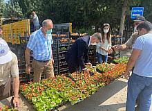 Bursa'da mezarlık ziyaretçilerine ücretsiz çiçek