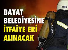 Çorum Bayat Belediyesi'ne İtfaiye Eri Alınacak