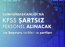 Cumhurbaşkanlığı İletişim Başkanlığı'na KPSS Şartsız Personel Alımına Hangi Bölüm Mezunları Başvurabilir?