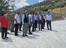 Ergani Kaymakamı Öztürk, Bademli Mahallesinde incelemede bulundu