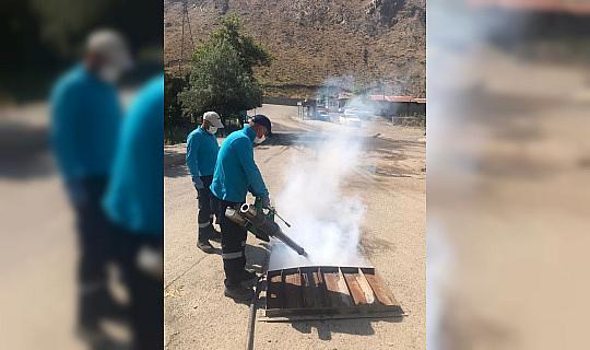 Hakkari'de sivrisineklere karşı kanal sisleme çalışması