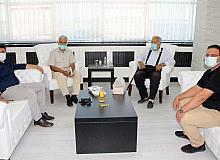 Hasan Şahmaranoğlu ve Hasan Bitken, Rektör Karacoşkun ile bir araya geldi