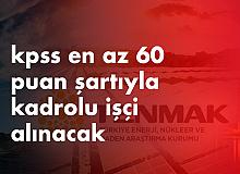 İŞKUR Üzerinden TENMAK'a En Az Ortaöğretim Mezunu İşçi Alımında Ankara'da İkamet Şartı