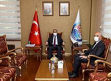 İzmir'e atanan İl Emniyet Müdürü Şahne'den Vali Su'ya veda ziyareti