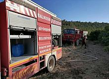 Kepsut'ta ormanlık alandaki yangın korkuttu