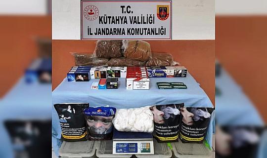 Kütahya'da kaçak tütün ve sigara operasyonu