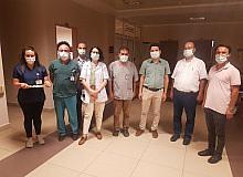 Nazilli Devlet Hastanesi'nde sağlıkçılar bayramlaştı