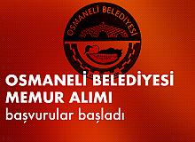 Osmaneli Belediyesi'ne Memur Alımı Başvuruları Başladı