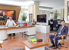 Özkan'dan Başsavcı Gümüş'e 'hayırlı olsun' ziyareti