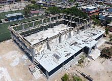 PTT Evleri Spor Salonu inşaatı yükseliyor