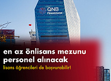 QNB Finansbank'a En Az Önlisans Mezunu Personel Alınacak (Lisans öğrencileri de başvurabilir)