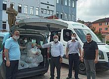 Selden etkilenen esnaf ve vatandaşlara TSO'dan gıda yardımı