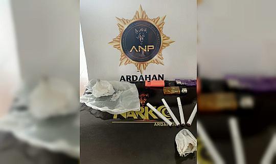 Ardahan'da uyuşturucu operasyonunda 1 kişi tutuklandı