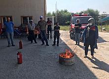 Bozüyük itfaiyesinden yangın eğitimi