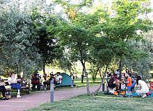 Çankayalılar yaz sıcaklarında kendini parklara attı