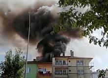 Çorum'da korkutan çatı yangını