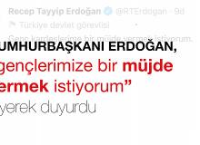 """Cumhurbaşkanı Erdoğan, """"Gençlerimize Bir Müjde Vermek İstiyorum"""" Diyerek Duyurdu"""