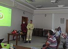 Dursunbey'de gönüllülere yangın eğitimi