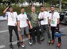 Gaziosmanpaşa'da paten, kaykay ve scooter yarışması