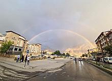 Hakkari'de gökkuşağı güzelliği