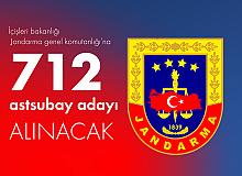 Jandarma'ya En Az Lise Mezunlarından 712 Astsubay Adayı Alımı Başvurularında Son Saatler