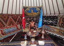 Kayseri Büyükşehir, Ahlat Millet Bahçesi'ne çadırını kurdu