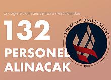 Kırıkkale Üniversitesi'ne Ortaöğretim, Önlisans ve Lisans Mezunlarından 132 Personel Alınacak