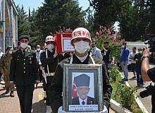 Kore gazisi, son yolculuğuna askeri törenle uğurlandı
