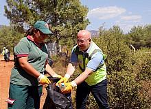 Kozağaç yangın bölgesinde çevre temizliği