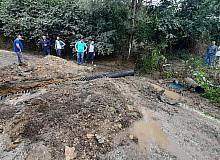 Kumru'da sağanak nedeniyle kapanan yollar ulaşıma açılıyor
