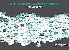 Mersin'de vaka sayısı 100 binde 350 kişiyi geçti