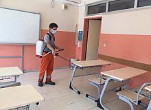 Okul sezonu öncesi temizlik ve dezenfekte çalışması