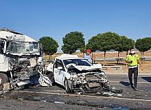 Susurluk'ta 6 araçlı zincirleme kazası: 4 yaralı