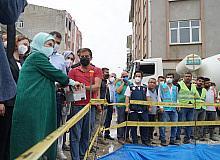 TOKİ, selde yıkılan 16 iş yerinin temelini attı