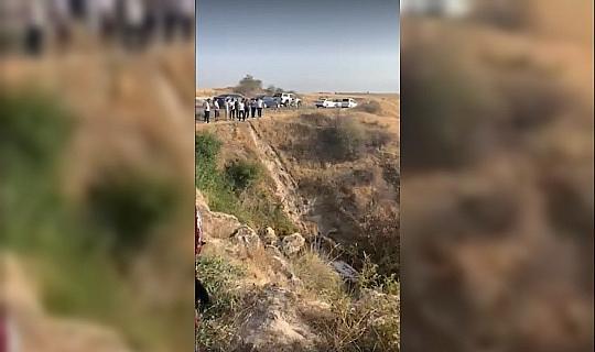 Uçuruma düşen araçtaki 3 kişi burunları bile kanamadan kurtuldu