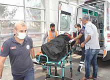 Üzerine iskele düşen işçi yaralandı