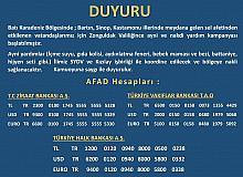 Zonguldak Valiliği sel afeti nedeniyle yardım kampanyası başlattı