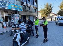 163 motosiklet sürücüsü kasksız yakalandı