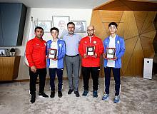 Avrupa 3'üncüsü olan milli güreşçi Miraç'ın hedefi dünya şampiyonasında derece