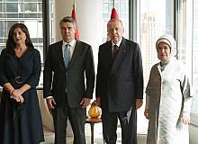 Cumhurbaşkanı Erdoğan, Hırvatistan Cumhurbaşkanı Milanoviç ile bir araya geldi