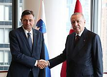 Cumhurbaşkanı Erdoğan, Slovenya Cumhurbaşkanı Pahor ile bir araya geldi