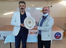 Hisarcık'ta Şube Müdürü Eskiakgün'e veda yemeği