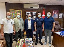 İlçe Jandarma Komutanı Üsteğmen Koray'dan Başkan Şahin'e ziyaret