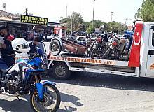 Manisa jandarmadan motosiklet sürücülerine sıkı denetim